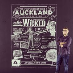 © Anthony Hos.  Chalking for Auckland's Spring campaign.