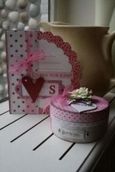 Valentine card and box