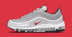 Silver Bullet Nike Air Max 97 are back in business Sneakers greatly benefit from shoe trees related to care, preservation, display and travel. Sole Trees makes premium shoe trees for sneakers Classic Sneakers, Air Max Sneakers, Sneakers Nike, Silver Bullet, New Balance Sneakers, Shoe Tree, Nike Sportswear, Shoe Collection, Sneakers Fashion