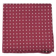DOTTED DOTS POCKET SQUARES - BURGUNDY | Ties, Bow Ties, and Pocket Squares | The Tie Bar