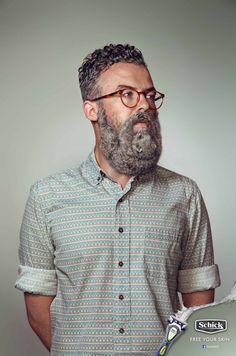 Schick wants hipsters to shave the small feral creatures off their faces in a new ad campaign out of New Zealand. Print Advertising, Creative Advertising, Advertising Campaign, Print Ads, Hipsters, Photocollage, Cannes Lions, Beard Designs, Sexy Beard
