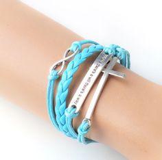 JUMMAX Fashion Lady Strands Suede Rope Bracelet Gift