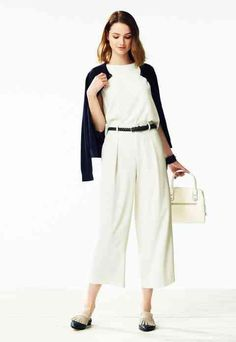 Whimsical in white. Take on your day in comfort and in style in our Drape Wide Leg Ankle Length Pants.
