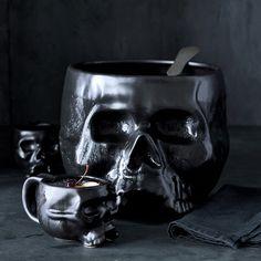 Halloween Skull Mugs, Set of 4 | Williams-Sonoma