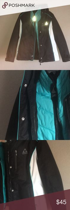 Gerry Winter Jacket Used Gerry winter jacket. Black and white with a removable  interior teal liner jacket (cute even worn just by itself) Gerry Jackets & Coats