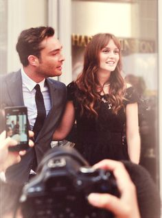 ed westwick and leighton meester (april 27th 2012). harry winston store opening in shanghai