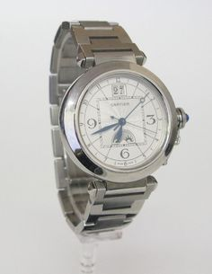 Cartier-Pasha-XL Big DateMondphase, Datumsanzeige. Automatik. Metallband. Gehäusedurchmesser: 4,2 c — Uhren