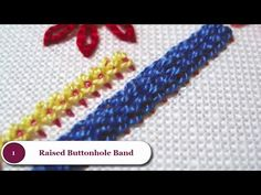 Hand embroidery stitches tutorial for beginners. - YouTube