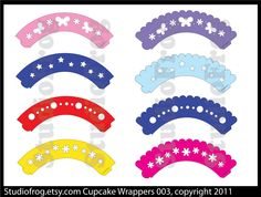 Cupcake Wrappers SVG Bundle 003. $2,25, via Etsy.
