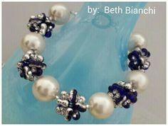 Beaded peanut beads and pearls by Beth Bianchi #beadingbabesofdurham #bethbianchi #beadrock #beadclasses