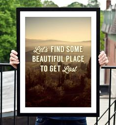 Motivational Wall Decor Let's Find Some Place by TheMotivatedType