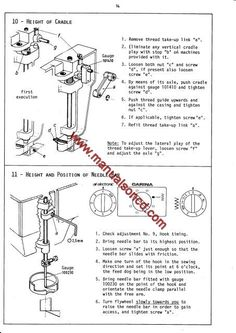 Elna 500 Sewing Machine Service Manual. Models: ELNA AIR ELECTRONIC SP, TSP, SU ELNA CARINA / JUBILEE TSP, SU ELNA 500 ELECTRONIC Here are just a few examples of what's included in this manual: * Needle Clearance. * Hook Timing. * Upper and lower tension. * Automatic feed. * Motor belt tension. * Troubleshooting. * Much more! 27 page manual.