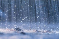 #Beautiful #Blue #Rain drops falling like #Diamond #Jewels - #DdO:) - WATER OF LIFE - https://www.pinterest.com/DianaDeeOsborne/water-of-life/ - Rains drench the EARTH to stop the THIRST of plants, animals and BIRDS.... A #SONG that rhymes! #DianaDee:)