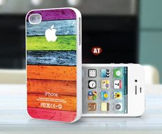 Colored Wood iPhone 4 and 4s case:)