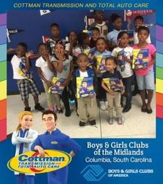 Cottman Transmission and Total Auto Care's Coloring Books Travel to the Boys and Girls Clubs of the Midlands! #ColorMeCottman