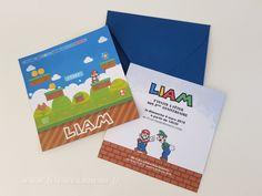 Invitation Mario Bros • Boutique Fêtes vous même