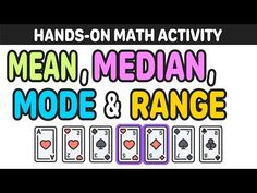 Mashup math-mean median mode and range activity Math Stations, Math Centers, Mean Median And Mode, Math Lessons, Math Tips, Sixth Grade Math, Daily Math, Math About Me, Math Projects