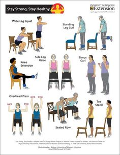 Marvelous Chair Exercises For Seniors Nice Design