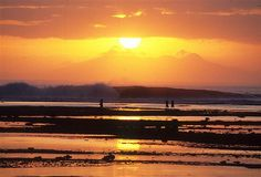 Sunset on the beach in Bali.  #beaches #sunset