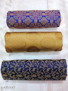 Blouse Piece Jivika Graceful Women Blouses Fabric: Brocade Jacquard Weaving Jacquard Banarasi Jacquard silk Pattern: Zari Woven Multipack: 3 Size: Blouse Length - 0.80 Mtr Country of Origin: India Sizes Available: Free Size   Catalog Rating: ★4 (312)  Catalog Name: Jivika Graceful Women Blouses CatalogID_698065 C74-SC1391 Code: 682-4791047-066