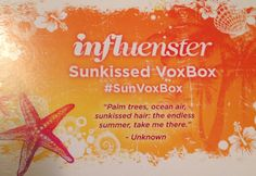 Cleats & Couture: Influenster Sunkissed VoxBox Opening & Review