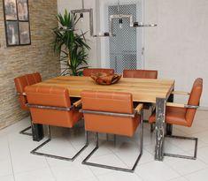 """Massivholz-Tisch """"STEELVE"""" Esstisch aus Massivholz"""