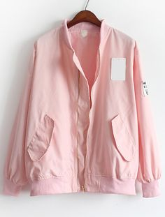 Shop Pink Stand Collar Pockets Loose Jacket online. SheIn offers Pink Stand Collar Pockets Loose Jacket & more to fit your fashionable needs.