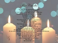 4a34499f4c6aad Funeral Poem - Four Candles Remembrance Poems