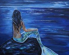 Mermaids Paintings - Enchanting Mermaid  by Leslie Allen