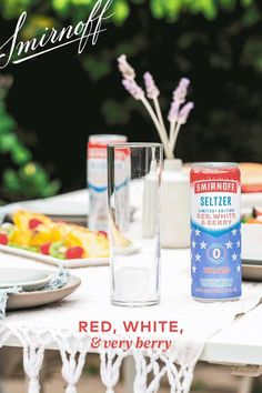 Fill glass with ice, lemon & raspberries. Crack open a cold Smirnoff Red, White & Berry Seltzer to top off.
