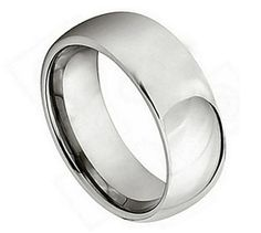 TITANIUM POLISHED SHINY DOMED RING.