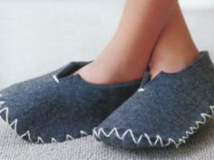felt slippers diy