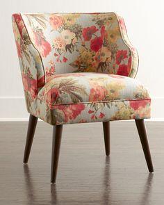 Garden Odyssey Chair, Pink Floral - Neiman Marcus