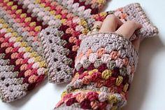 Granny Keep Warm Set Crochet pattern by Sandra Paul Christmas Knitting Patterns, Crochet Patterns, Crochet Tutorials, Universal Yarn, Baby Scarf, Plymouth Yarn, Cascade Yarn, Yarn Bowl, Paintbox Yarn