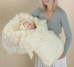 Конверт для новорожденного на выписку из роддома (весенний) арт. 11 (одеяло, чепчик, конверт) - сатин...