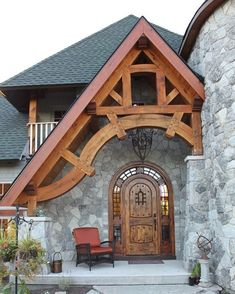 House entrance exterior timber frames New Ideas Porch Wall Design, Cottage Doors Interior, Timber Frame Homes, Timber Frames, Pergola Plans, Pergola Kits, Pergola Ideas, Pergola Screens, Cheap Pergola