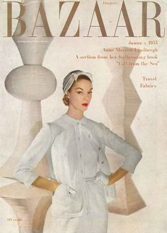 Jean Patchett on the cover of Harpers Bazaar, January 1955. Photo by Louise Dahl-Wolfe. hat