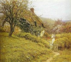 Helen Allingham (1848 - 1926) South Country Cottage.