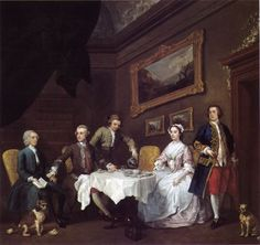 William Hogarth La famille Strode v1738