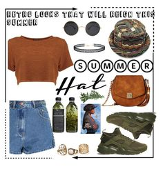 """""""Summer Hats: Poetic Justice Inspired"""" by queenofself ❤ liked on Polyvore featuring Glamorous, NIKE, Gabriella Rocha, AMBRE, LULUS, Poetic Justice and summerhat"""