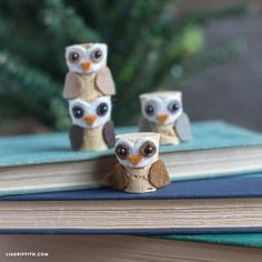 They are the cutest! DIY Cork Owls by lia griffith.