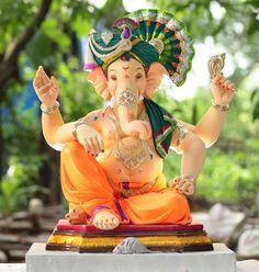 Clay Ganesha, Shri Ganesh, Neck Patterns For Kurtis, Pencil Sketch Images, Ganesh Ji Images, Ganpati Decoration At Home, Ganesh Photo, Ganesh Utsav, Ganpati Bappa