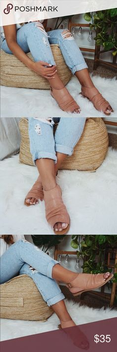 •Fiji Blush Mule Sandals• We're walking on sunshine with our Fiji mule sandals. Never have we ever worn a pair of sandals so comfy ideal for long walks on our spring and summer travels.  •Color: Blush •Style: Mule Sandals  •Photos are of actual product •Price is firm •10% discount on bundles of two or more •Photo Credit: The Wanderlust Bazaar •Boho, mule, sandals The Wanderlust Bazaar Shoes Sandals