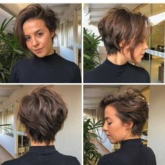 Do you love this look? We love these PIXIE 360 style photos Short Hair Long Bangs, Pixie Haircut For Thick Hair, Pixie Bob Haircut, Long Hair Cuts, Short Hair Styles, Short Hair Cuts For Women Pixie, Pixie Cut With Long Bangs, Short Hair Tomboy, Short Pixie Bob