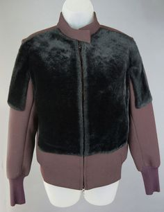 Womens 3.1 Phillip Brown Shearling Fur Panel Jacket Coat Size 0 #31philliplim #BasicJacket