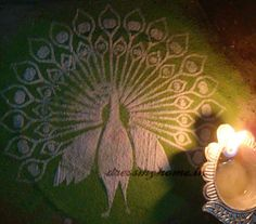Peacock Rangoli Stencils