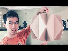 Origami lampshade how to by jeedwonder - YouTube