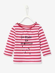 T-shirt rayé bébé fille Framboise raye - vertbaudet enfant