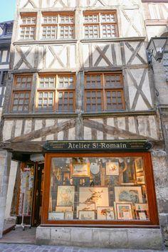 Rue Pietonne, Ville France, Architecture, Houses, Wall Stud, Normandie, Terraces, Travel, Arquitetura