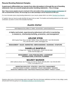 Png Personal Branding Resume Statement Examples Sample Mission  Statementsudent